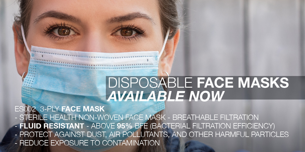 Disposable Face Masks Available Now